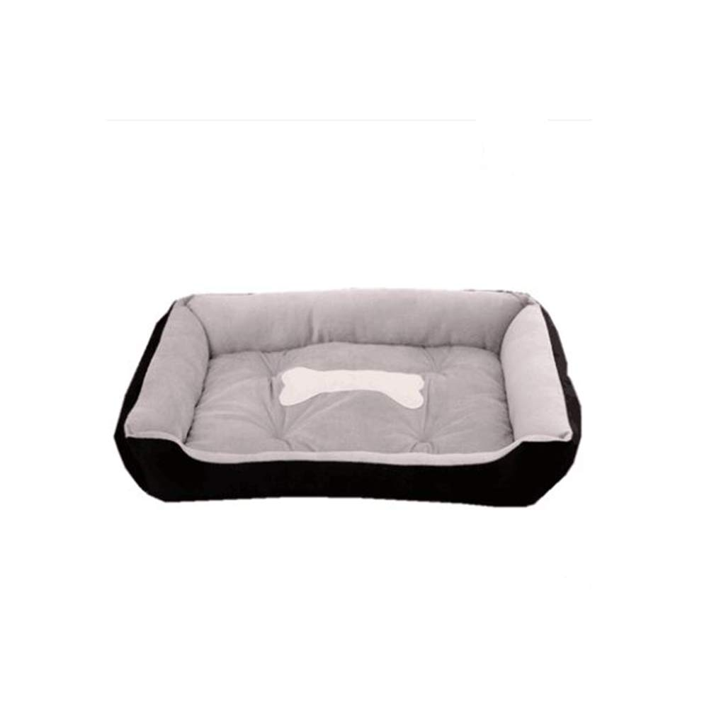 Black L black L Pet Bed,Ultra Soft & Cozy Washable cat Dog mat eases pet Arthritis & Hip dysplasia Pain Puppy Kitten Warm Kennel Cushion-Black L