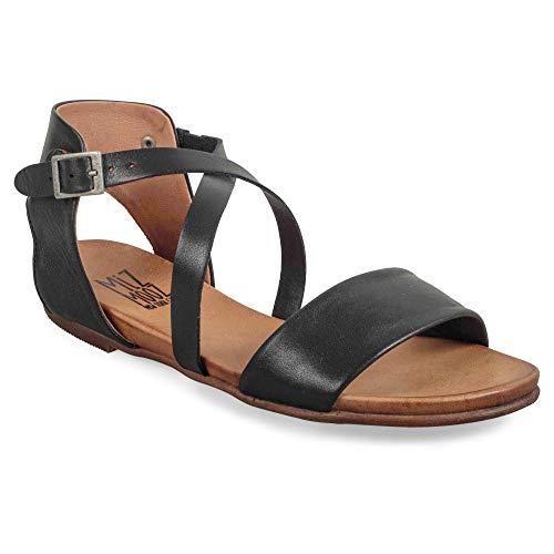 Sandals Leather Aster - Miz Mooz Aster Women's Ankle Strap Sandal Black