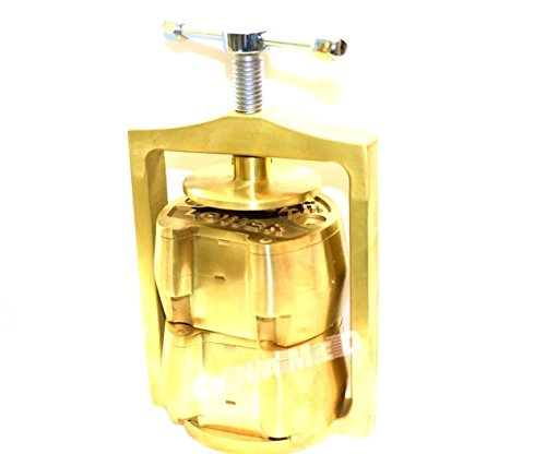PREMIUM DENTAL LABORATORY LAB SPRING PRESS COMPRESS W/TWO BRASS DENTURE FLASK ( CYNAMED ) by CYNAMED (Image #5)