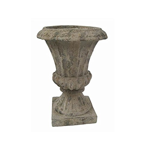 Zaer Ltd. Indoor/Outdoor Magnesium-Cement Garden Urn (1.7ft Tall, 1.3ft Diameter) (Single Pack)