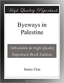 Book Byeways in Palestine