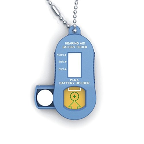 Hearing aid battery tester with spare battery Compartment