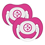 NFL Football 2014 Baby Infant Girls Pink Pacifier 2-Pack - Pick Team (Pittsburgh Steelers - Pink)