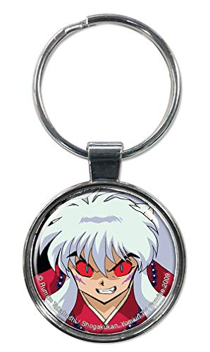 "Ata-Boy Inuyasha with Red Eyes 1.5"" Fob Keychain for Keys, Backpack Pulls and More"