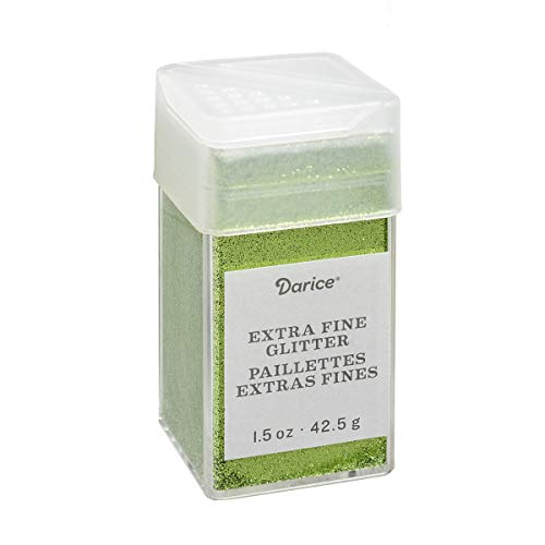 - Pesto Extra Fine Glitter 1.5 Ounces Canister w/Pour or Shake Lid - Green