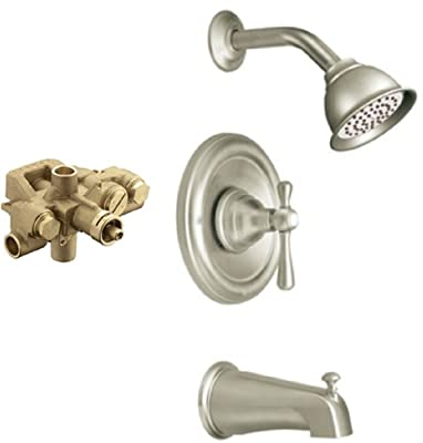 Moen T3113BN-3520 Kingsley Moentrol Tub/Shower Valve Trim Kit with Valve, Brushed Nickel