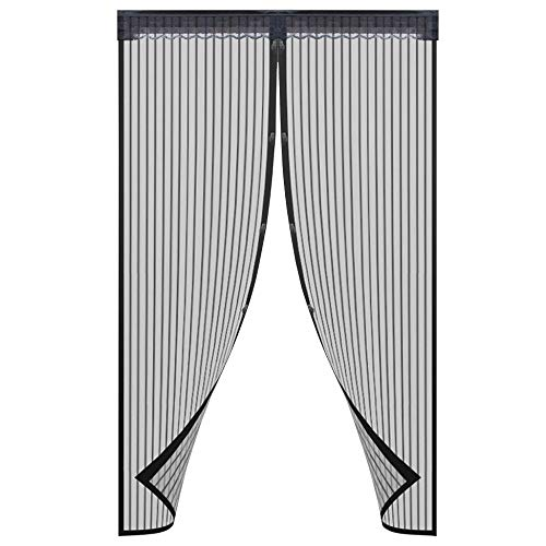 - Magnetic Screen Door Durable Mesh Curtain and Full Frame Velcro Fits Doors Up to 38