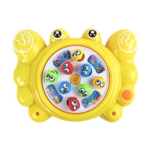 Électronique Toy pêche mis en rotation Gibier With Music, Crabe jaune