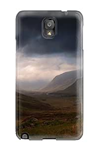 Premium YvzrNGI2918FJoXb Case With Scratch-resistant/ Scotland's Dark Clouds Case Cover For Galaxy Note 3