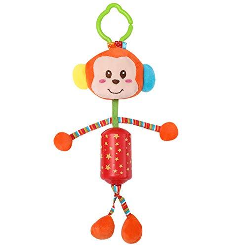 bromrefulgenc Stroller Hanging Toddler Toy,Soft Plush Cartoon Animal Monkey Deer Baby Stroller Hanging Toy Crib Wind Chimes Monkey -