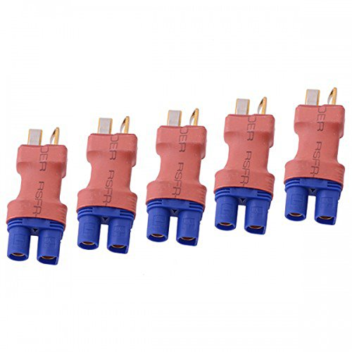 iParaAiluRy 5Pcs EC3 Female Connector Adapter - Deans Style EC3 Female to T Male Plug Plug for Lipo Battery