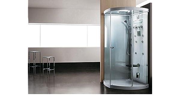 Teuco cabina de ducha con chorros de masaje multifunción luz 112 x 80 cm Art. 157acr-c: Amazon.es: Hogar