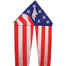 In the Breeze Patriotic Delta Kite with 19-1/2-Feet Flowing Tails