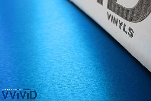 Buy brushed blue vehicle wrap vinyl