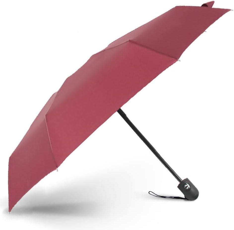 YYouRui50% de Descuento Paraguas Completamente automático Parasol Plegable Paraguas portátiles para Hombres y Mujeres Paraguas de Bolsillo Mini protección Solar compacta de Doble Uso