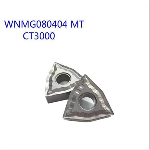 WITHOUT BRAND 10PCS WNMG080404 MT CT3000 for TaeguTec Cermetsorte Karbid-Einsätze Drehschneidwerkzeuge Außendrehwerkzeuge CNC-Werkzeuge