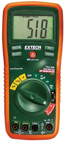 Extech EX470 Multimeter Infrared Thermometer