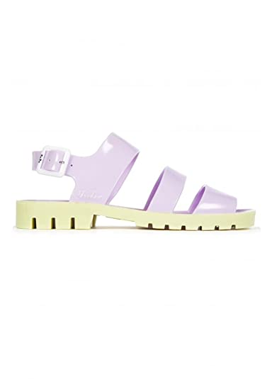 d05b9947a0e0b JuJu Baby Lilac Yellow Daisy Jelly Shoe Women's Strappy Sandals ...