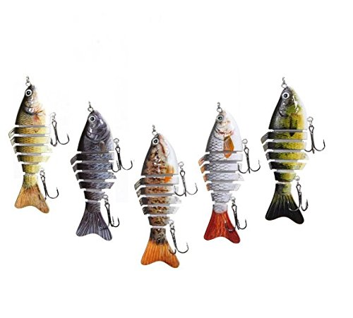 Tfwadmx Fishing Sinking Crankbait Lures Popper Minnow Bass Crank Bait Hook Tackle (Assortment) - Pack of 1