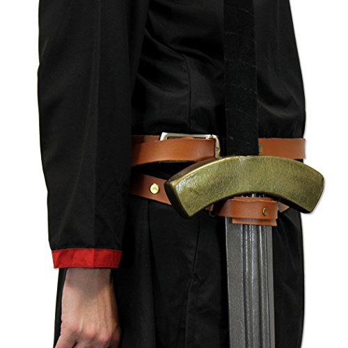 Knights Templar Double Wrap Genuine Leather Medieval Sword Belt 90 Inch Studded (Mens Templar Knight Costume)
