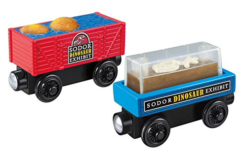 Fisher-Price Thomas & Friends Wooden Railway, Dino Fossil Discovery - Battery Operated - Thomas And Friends Train Cars