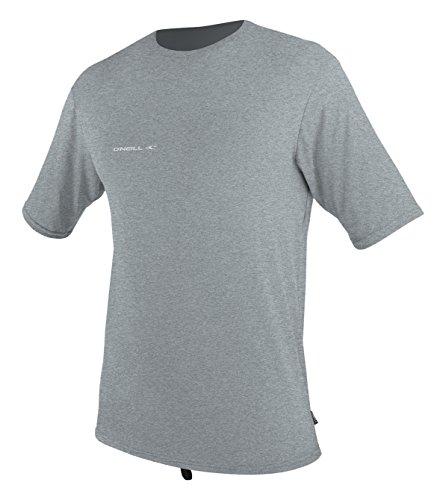 Dive Gear Clothing - O'Neill Wetsuits Men's Hybrid UPF 50+ Short Sleeve Sun Shirt, CoolGrey