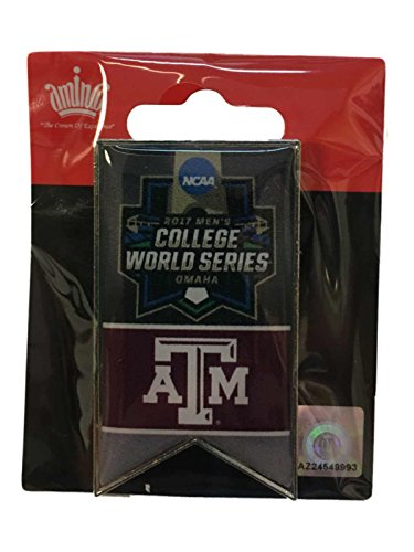aminco Texas A&M Aggies 2017 NCAA Men's CWS College World Series Banner Lapel Pin