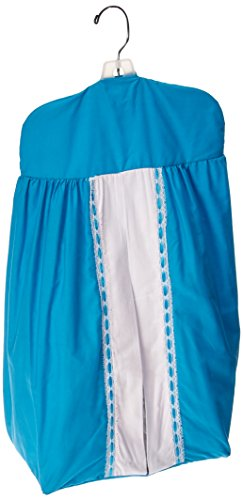 Baby Doll Bedding Regal Diaper Stacker, Aqua - Girly Diaper Stacker