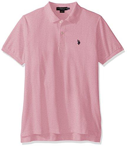 - U.S. Polo Assn. Men's Classic Polo Shirt, Pink Sunset Heather, XL