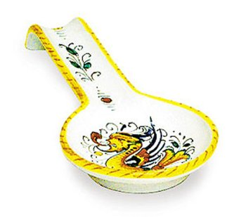 Arte D'Italia Imports Hand Painted Raffaellesco Spoonrest - Handmade in Deruta by Italian Pottery Outlet