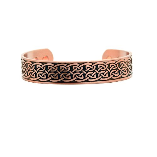 Accents Kingdom Magnetic Copper Therapy Bangle Cuff Golf Bracelet, Celtic Knot ()