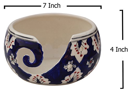 Black Friday Deals Cyber Monday Deals - Ceramic Yarn Bowl for Knitting, Crochet for Moms - Beautiful Gift on All Occasions. A Perfect Gift for Moms and Grandmothers (Big Yarn_22) by abhandicrafts (Image #6)