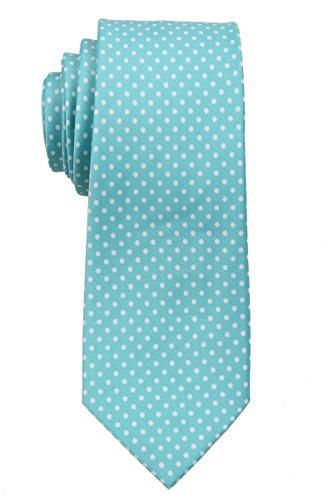 Sim Mens Dot Aqua Necktie Polka Narrow pnqx4g