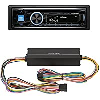 Alpine CDE-143BT Advanced Bluetooth CD Receiver With KTP-445A - Alpine 4-Channel 45W RMS X 4 at 4-Ohms Amplifier