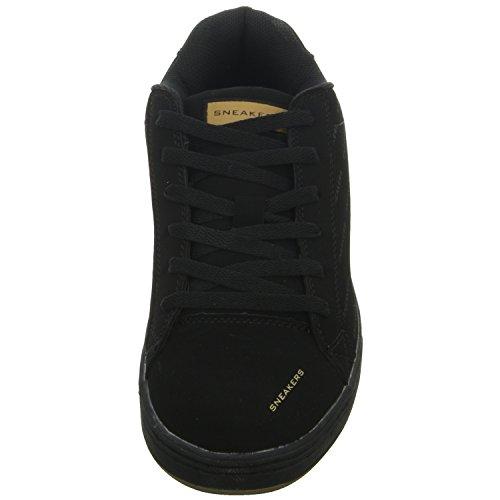 Sneakers 12A51 Herren Schnürhalbschuh Schwarz (Schwarz)