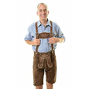 Lederhosen Shorts German Lederhosen Outfit with Suspenders, Kurt