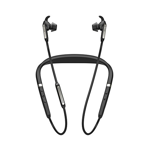 Price comparison product image Jabra Elite 65e Alexa Enabled Wireless Stereo Neckband with In-Ear Noise Cancellation – Titanium Black