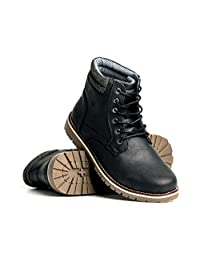 Blackwell Mens Colt Vegan Leather Lace Up Boot with Memory Foam Insoles