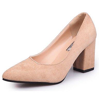 RTRY Zapatillas De Mujer &Amp; Flip-Flops Verano Confort Casual Pu Chunky Heelblack Caminar Blanco US8 / EU39 / UK6 / CN39