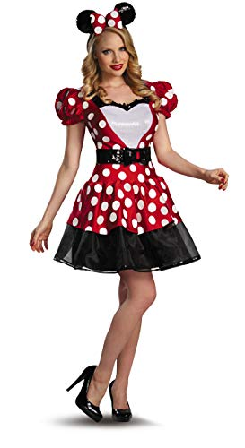 Minnie Mouse Costume Woman (Disguise Women's Disney Mickey Mouse Glam Minnie Costume, Red/White/Black,)