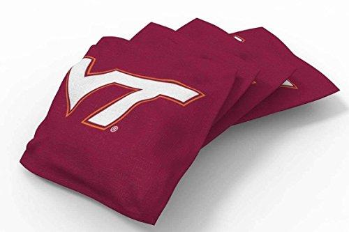 Bag Tech Virginia Bean (PROLINE 6x6 NCAA College Virginia Tech Hokies Cornhole Bean Bags - Solid Design (A))