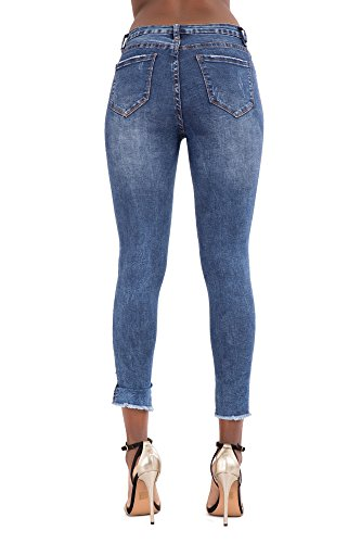 Blue Jeans Lustychic Donna Ripped Navy Faded wzP71Tq