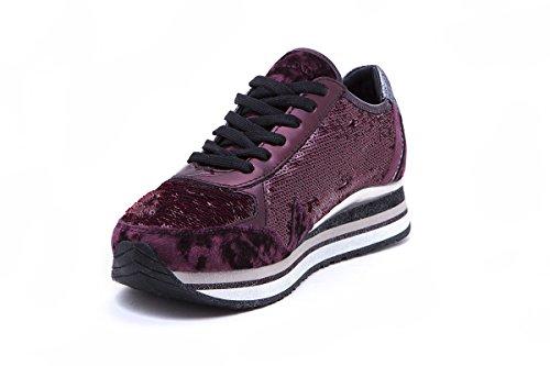 Ai17 Sneaker Donna Xdqcbewro Crime Bordeaux Scarpe 25522 71 4A3qj5RL