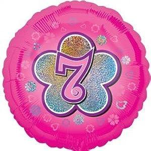 Anagram Age 7/7th Birthday Pink Flower 18
