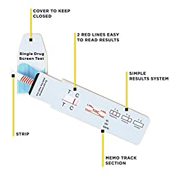 Care Check Marijuana THC Single Panel Drug Screen Test , Individually Wrapped 15 Home Drug Test Kits