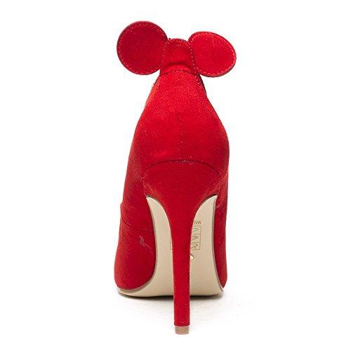 Ideal Shoes, Damen Pumps Rot
