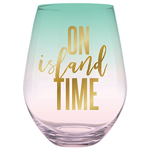 Slant Collections 30oz Stemless Wine Pink/Blue