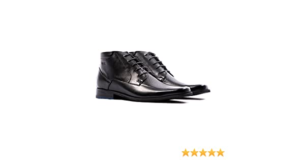 Amazon.com | VELEZ Men Genuine Colombian Leather Lace up Dress Boots Chelsea Style Ankle High Chukka Boots | Botas de Cuero Colombianas para Hombre Black 38 ...