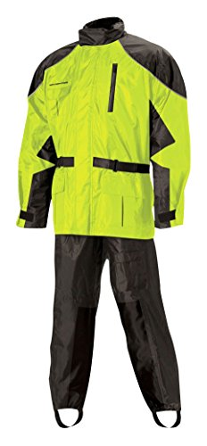 Nelson Rigg Unisex Adult AS-3000-HVY-03-LG Aston Motorcycle Rain Suit 2-Piece, (Hi-Visibility Yellow, Large) (Best Waterproof Motorcycle Suit)