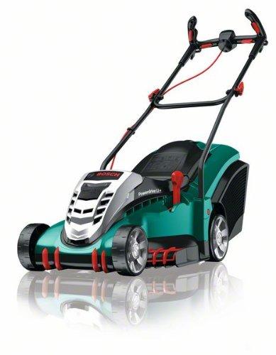 Bosch DIY Akku-Rasenmäher Rotak 43 LI (2 Akkus, Ladegerät, Grasfangbox 50 l, 36 V, Ergoflex-System, Schnittbreite 43 cm, Schnitthöhe 20 - 70 mm)